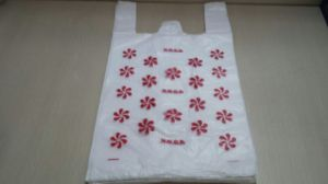White Printed T-Shirt Bag pictures & photos