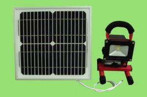 Solar Flood Light 10W Solar Rechargeable LED Flood Light with Solar Board