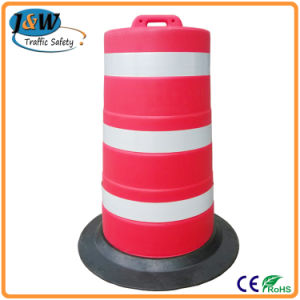 American Standard High Durable Plastic Road Barrier with Rubber Base pictures & photos