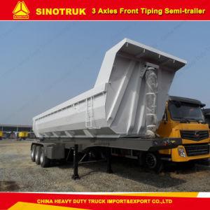 Tri-Axle U Type Dump/Tipper Semi-Trailer for Sale pictures & photos