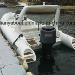 Liya 6.6m China Hypalon Military Rib Inflatable Rubber Boat with CE for Sale pictures & photos