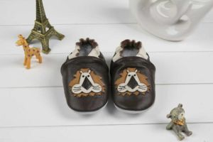 Baby Cow Leather Shoes Soft Sole Prehobbler Shoes (SWBBS7)