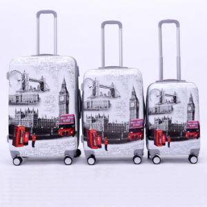 Fashion Wholesale 3 Pieces Printing Trolley Luggage