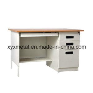 Cheap Durable Steel Modern High Tech Single Sided Drawers One Person Desk pictures & photos