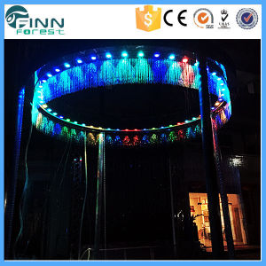 Shoping Mall or Hotel Decoration Water Curtain Fountain Digital Waterfall pictures & photos