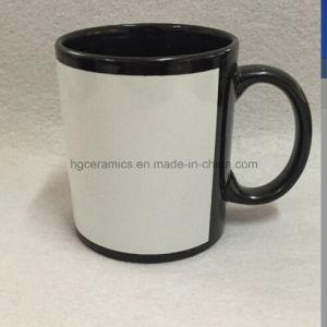 Black Mug with White Panel, Sublimation Black Mug pictures & photos