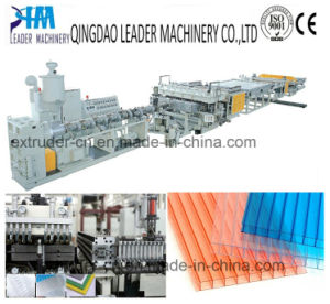 UV Resistance PC Polycarbonate Sunshine Roof Panel Extrusion Machine pictures & photos