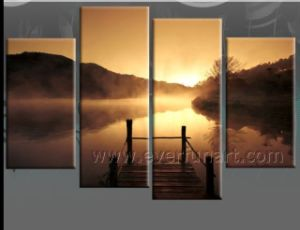 Wall Decoration Sunrise Landscape Oil Painting (LA4-049) pictures & photos
