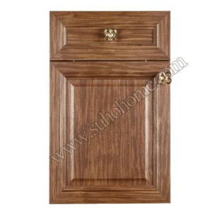 European Style MDF Kitchen Cabinet PVC Door Zz65A (Golden)
