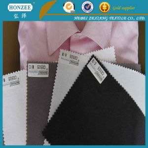 Twill 100% Polyester Textile Fabric for Cloth Woven Fusible Interlining