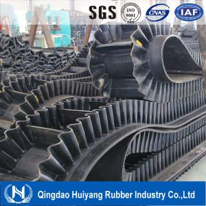 Ep Polyester 0-90 Degree Corrugated Sidewall Cleated Rubber Conveyor/Transmission Belt pictures & photos