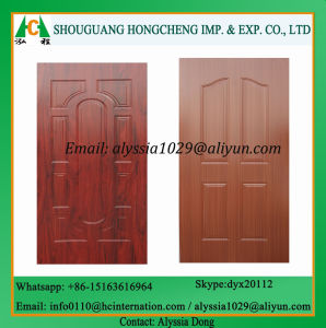 HDF Melamine Molded Door Skin for Construction pictures & photos