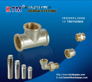 Nickel-Plated Screw Fitting - Elbow F/M pictures & photos