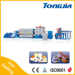 Fully Automatic Foamed PSP Fast Food Container Extruder and Vacuum Machine pictures & photos
