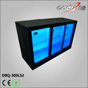 Three Sliding Door Back Bar Bottle Coolers with Lock,   Inside Lamp for Illumination (DBQ-300LS2) pictures & photos