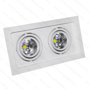 15W 20W 30W 40W 45W 60W Rectangle COB Grille LED Light with Bridgelux Chip pictures & photos