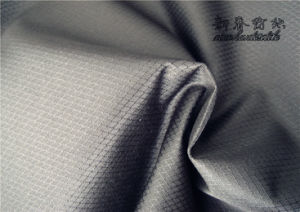 Polyester Dewspo/Pongee Dobby Rib/Stop Fabric with PU pictures & photos