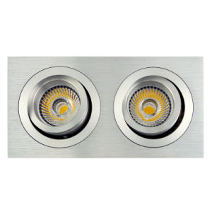 Lathe Aluminum GU10 MR16 Multi-Angle 2 Units Square Recessed Tilt Down Light (LT2303B-2) pictures & photos