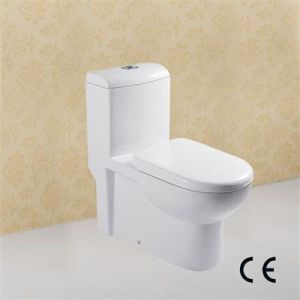 Europe Hot Selling One Piece Toilet Bowl with CE Certificate pictures & photos