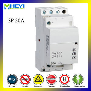 Household DIN Rail Contactors 3pole 20A 24V to 380V pictures & photos