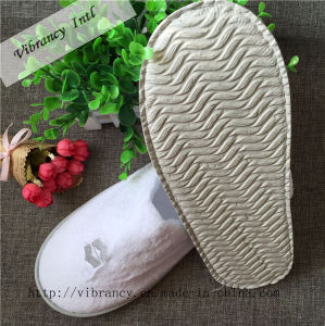 Disposable Coral Fleece Hotel Slipper/Hotel Amenity Slipper pictures & photos