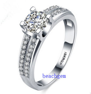 Hot Sell Jewelry- Cubic Zirconia Brass Rings (R0836) pictures & photos