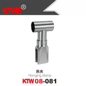 Stainless Steel Bathroom Partition Pipe Hanging Clamp (KTW08-081)