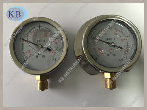 Oil Filled Manometer with Brass Back Connection pictures & photos