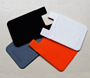 Promotional Hot Silicone Card Holder for Mobile pictures & photos