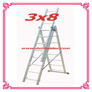 Aluminum Extension Ladder CE En131 Size: 3X6/3X7/3X8 pictures & photos