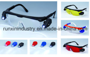 Safety Glasses with LED Light 014-4 pictures & photos