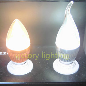 3W Bent End LED Bulb LED Candle Light pictures & photos
