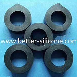 Electronics Industry Round Black Silicone Rubber Gasket for Electronics pictures & photos