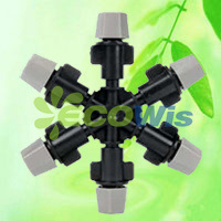 China Manufacturer Six Nozzles Outlet Fogger Mist Sprinkler (HT6341G) pictures & photos