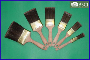 Pet Filament Beavertail Plain Wooden Handle Paint Brush pictures & photos