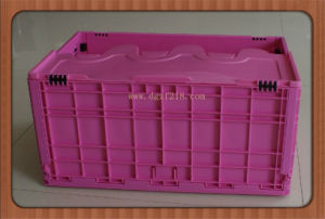 EU Plastic Folding Storage Container with Lid Manufacturer From China pictures & photos