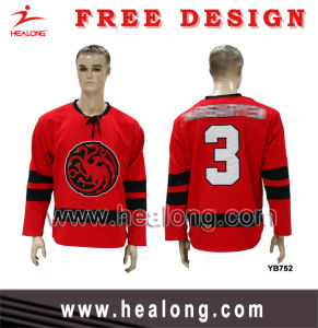 Healong Applique Logo Sublimation Ice Hockey Wear pictures & photos