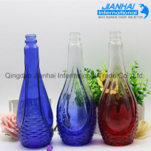 Unique Shaped Clear Glass Wine Bottle pictures & photos