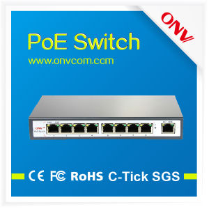 High Quality 9-Port Poe Switch in High Power