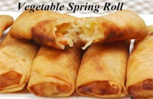 100%Handmade 17g Cylinder-Shaped Vegetable Spring Rolls pictures & photos