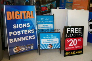 Customised Signage a Frame Calibre Sign Double Side Blackbord Sunshine Coast Heavy Duty Perth Free Standing Display Hardware Media Advertising Portable Stand pictures & photos