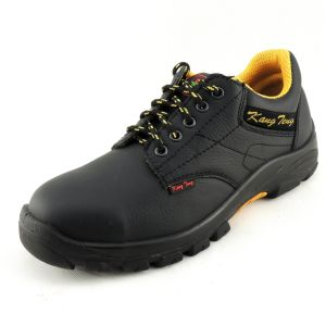Industrial Black Classic Split Leather Steel Toe Cap Safety Shoes pictures & photos