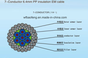 7-Conductor 6.4mm Polypropylene Insulation Em Cable pictures & photos