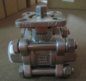 Ss304 3PC Threaded Ball Valve NPT (1000WOG) pictures & photos