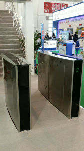 Optical Retractable Half Height Flap Barrier Turnstile pictures & photos