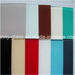 4mm Black Red Light Blue Painted/ Lacquered Glass for Decorate pictures & photos