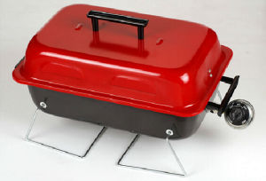 Red Rectangle Gas BBQ Grill