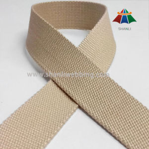 25mm Khaki Pure Cotton Webbing Tape pictures & photos