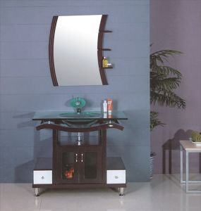 Glass Sink Bathroom Cabinet (B-607) pictures & photos