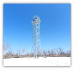 Self Supporting Angle Steel Guard Tower pictures & photos